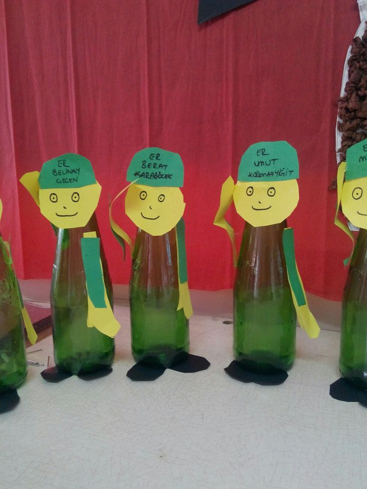 Şişeden askerler :)