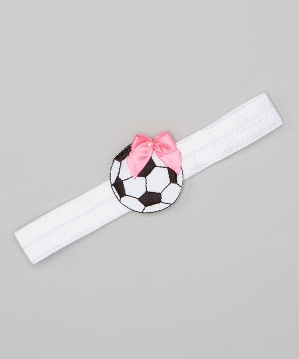 Black & Pink Bow Soccer Headband on #zulily today!