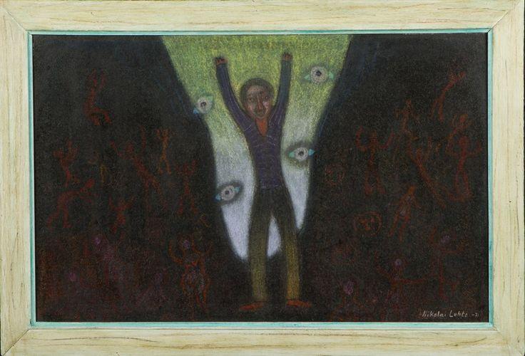 Nikolai Lehto: Orfeus, 1971, öljy, 31x48 cm - Hagelstam A127