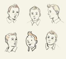 The many faces of tintin