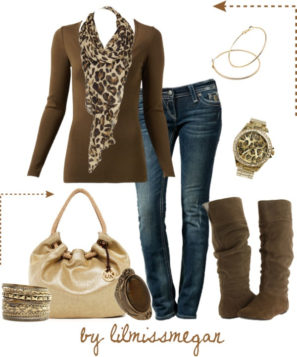 brown and leopard...