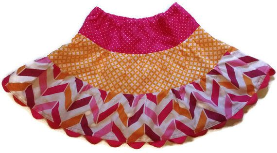 Chevron Skirt Toddler Skirt Girls Skirts by KelleenKreations
