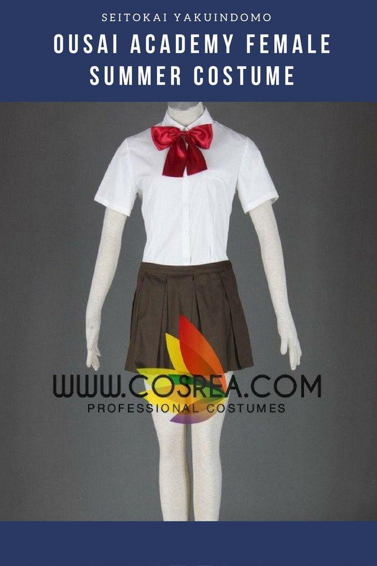 Seitokai Yakuindomo Ousai Academy Female Summer Cosplay Costume