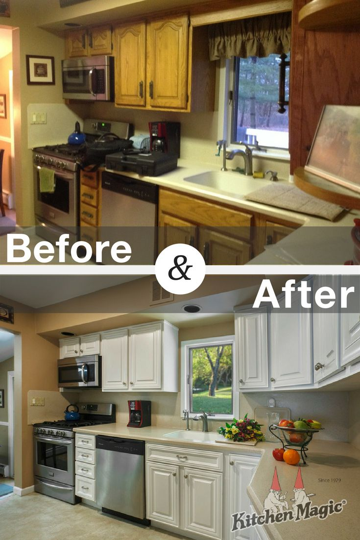 190 best kitchen transformations images on pinterest kitchen cabinets refaced knowing it would get the results they wanted at a fraction of the price to replace them they went with the sophisticated hamilton