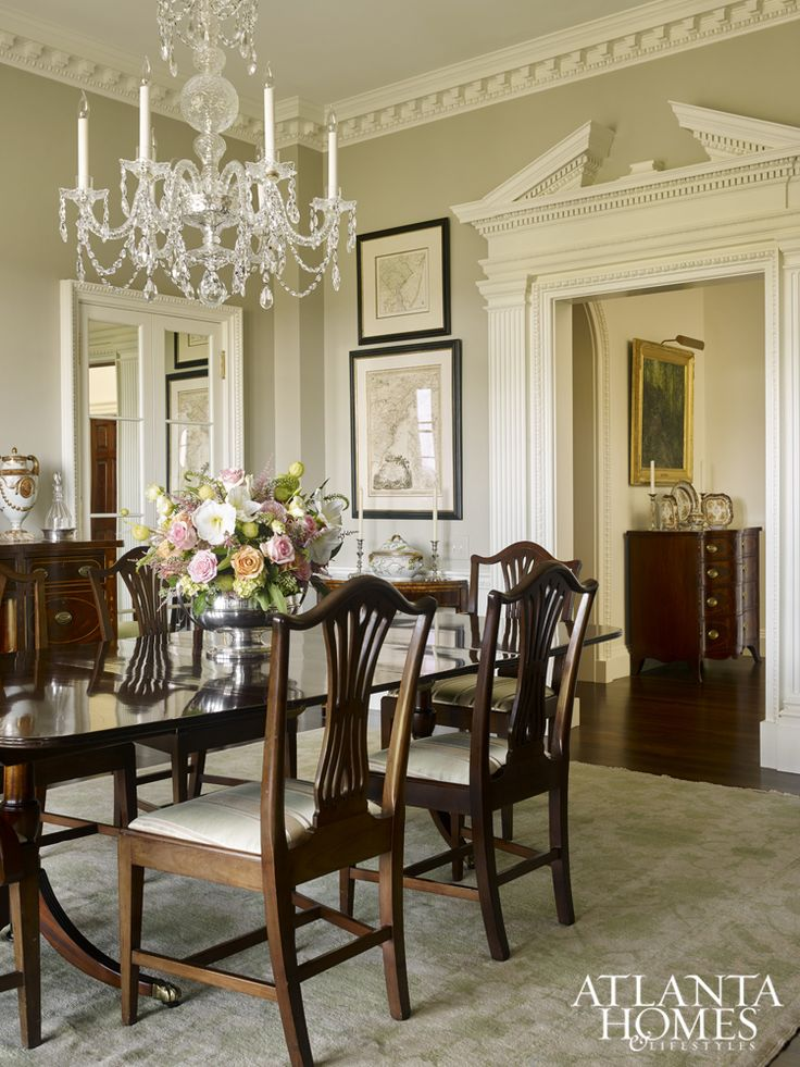 A Crystal Chandelier From Baccarat Takes Center Stage In The Dining Room.  The Rug From