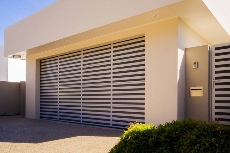 Steel-Line aluminium slatted garage door