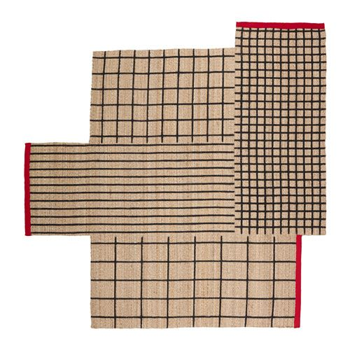 """149. 8 ' 2 """"x8 ' 2 """" IKEA - TERNSLEV, Rug, flatwoven, Twist, turn and play around with the shape of this durable rug until you find the perfect spot in your home.Jute is a durable and recyclable material with natural color variations.Easy to vacuum thanks to its flat surface."""
