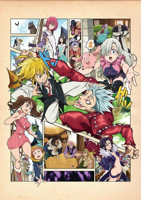 Teaser do novo animê de The Seven Deadly Sins - Henshin