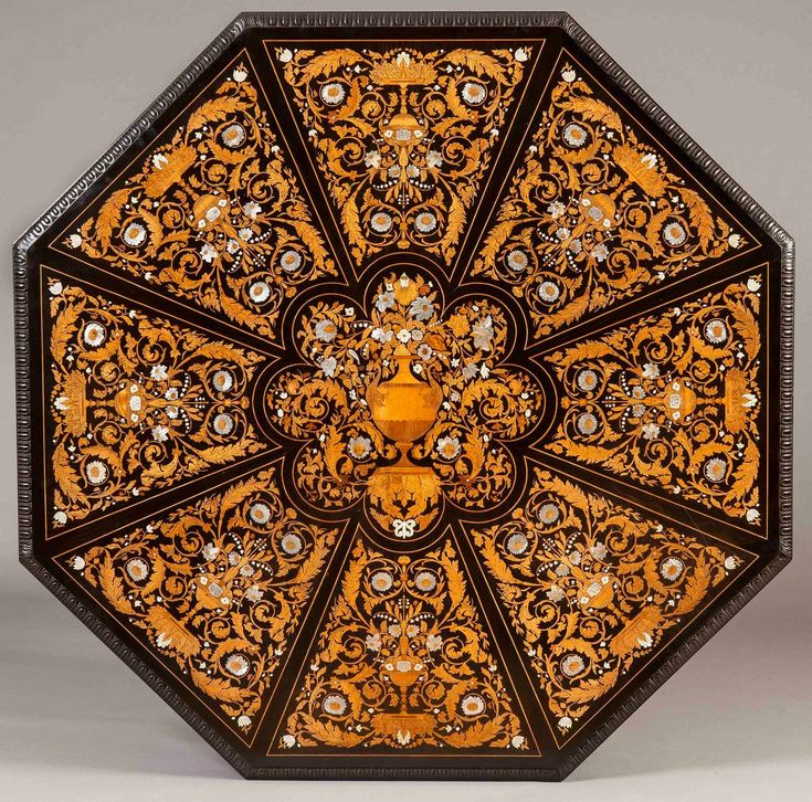 Antique Italian Marquetry Octagonal Centre Table   From A Unique Collection  Of Antique And Modern Center
