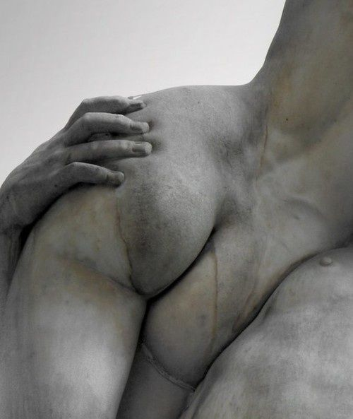 le derriere, close up of Giambologna's Rape of the Sabine