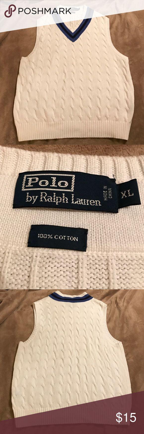 Like New!!!  Men's Ralph Lauren Polo Sweater Vest Like New!!!  Men's Ralph Lauren Polo Sweater Vest in size XL. Polo by Ralph Lauren Sweaters V-Neck