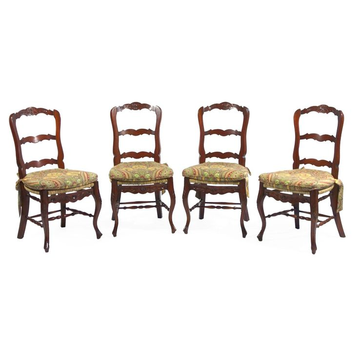 Take A Seat And Relax On These Charming Set Of Four French Country Chairs Mahogany