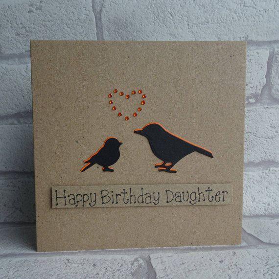 Bird Birthday Card Birthday card for Daughter Handmade card