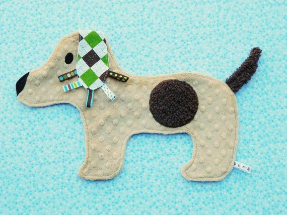 Puppy taggie blanket