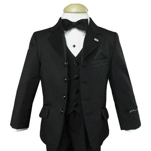 Johnnie Lene Black Tuxedo High Quality Set for Boys From Baby to Teen $189.99