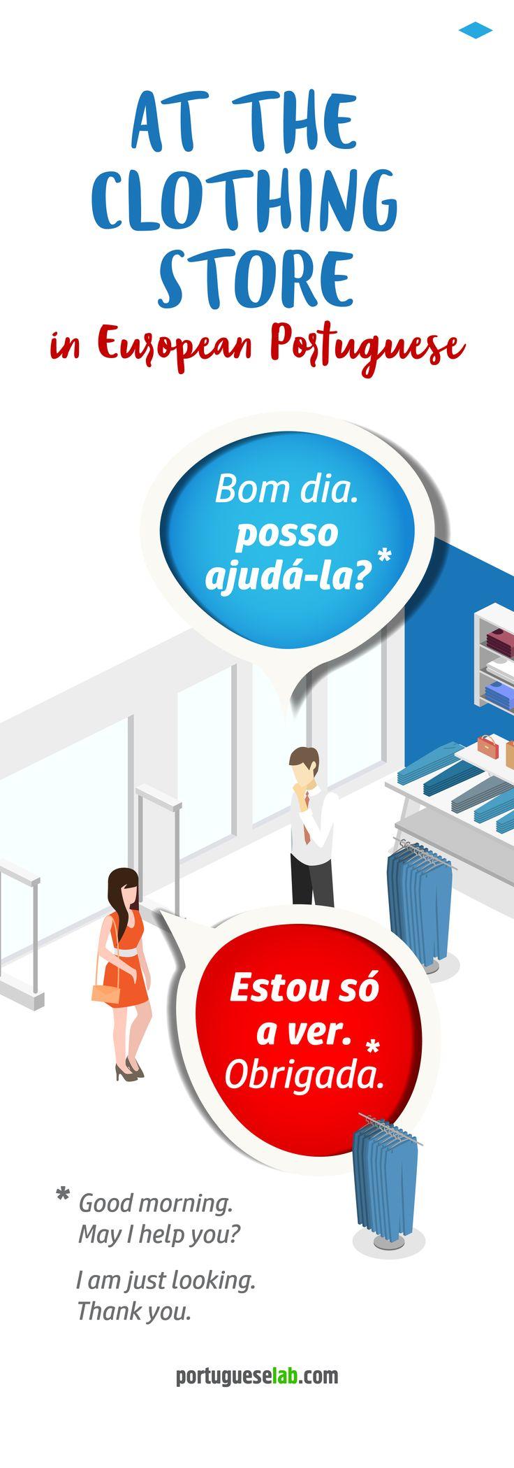 Learn to speak portuguese apparel