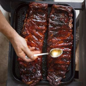 Ginger Rosemary Smoked Pork Ribs | MyRecipes.com