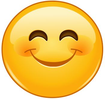 Low cognitive effort: happy face emoji