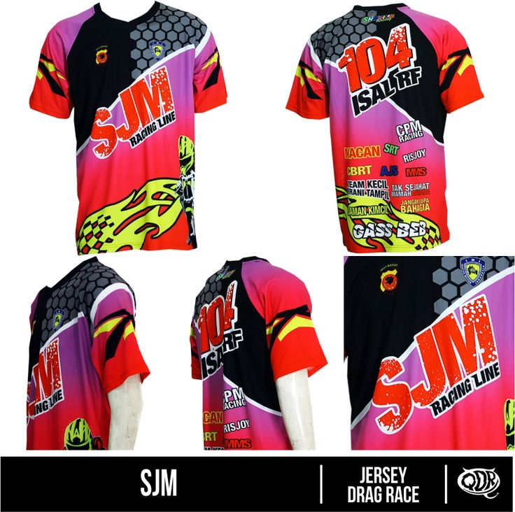 Jersey Drag Race - SJM Bahan : Dry FIt Printing: Sublimation  Model: Jersey Drag RAce Bahan dan Pola yang nyaman dipakai sehari hari, motif dan hasil printing yang tajam, cerah dan tidak luntur.  Fast respon  WA/Sms no call: 081222970120  PIN BB : D5443117