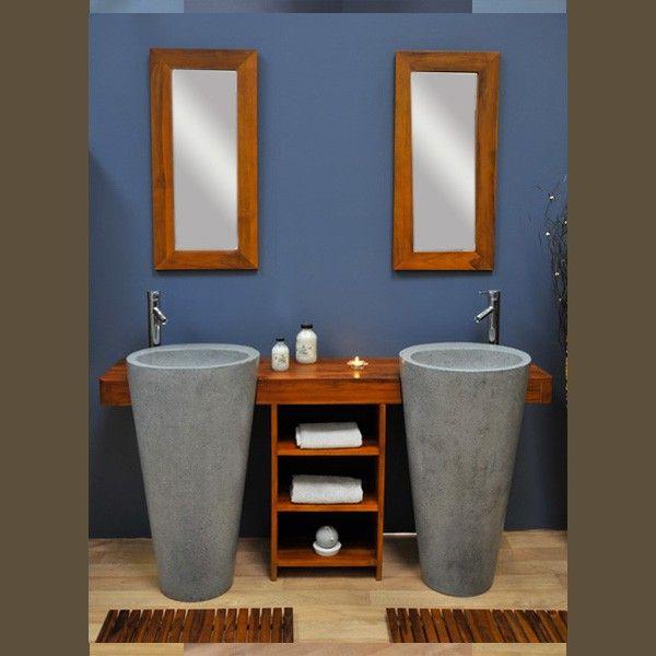 47 best deco salle de bain images on Pinterest Bathroom, Tile - teck salle de bain sol