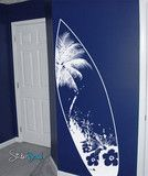 Vinyl Wall Decal Sticker Beach Paradise Surf Board #329