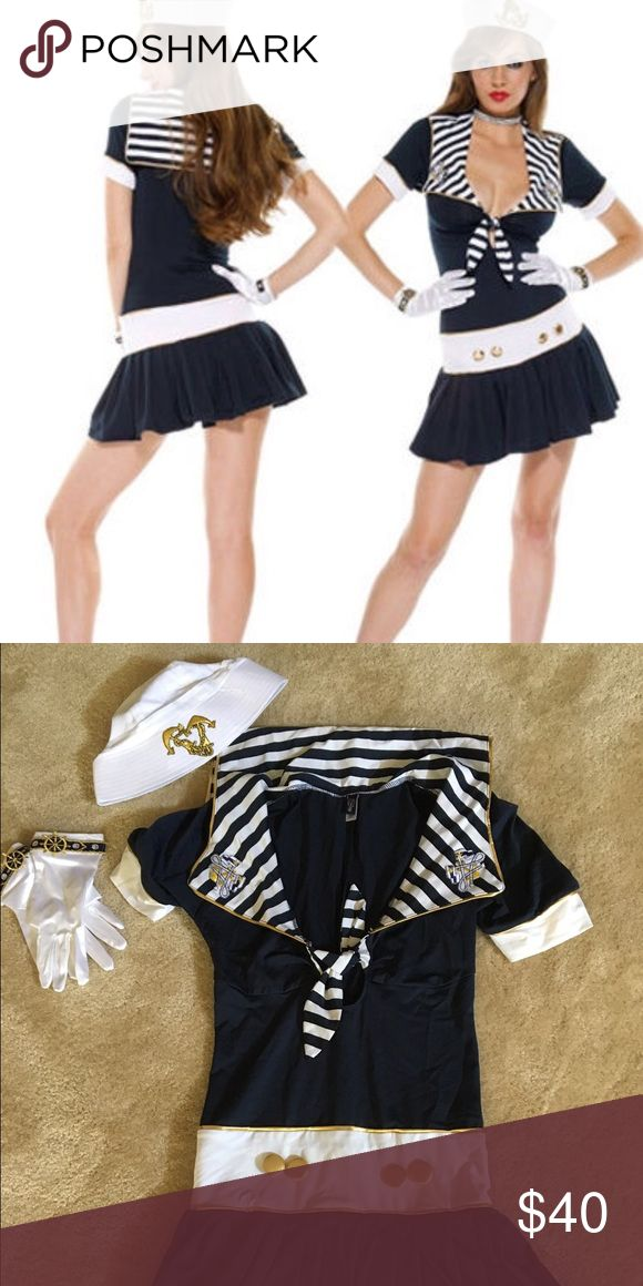 ForPlay Sailor Halloween Costume Sexy Sailor Costume! Comes with hat, gloves & dress! Size Small/Medium. Worn once, excellent condition. ForPlay Other