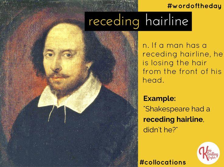 English collocation: receding hairline