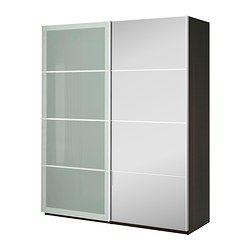 PAX Wardrobe, black-brown, Auli Sekken - black-brown - 200x66x236 cm - IKEA