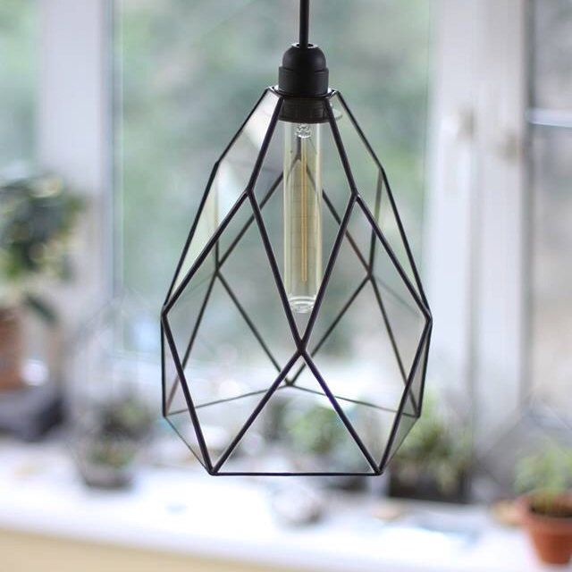 Grote bloem geometrische glas kroonluchter / Vintage lamp Lamp Warm / geometrische licht / industriële stijl hanglamp / glazen moderne verlichting door StereometricDesign op Etsy https://www.etsy.com/nl/listing/385457132/grote-bloem-geometrische-glas