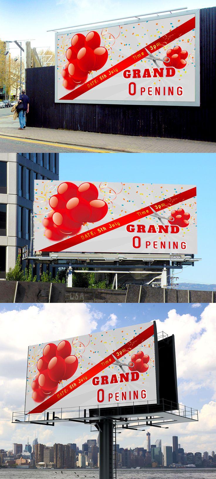 Grand Opening Banner on Behance