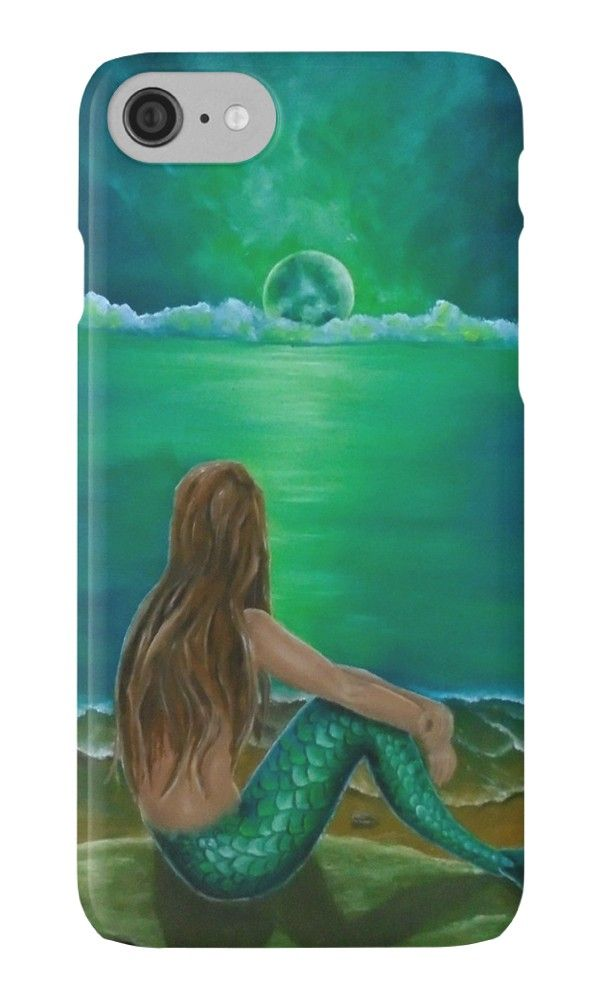 IPhone Case,  mermaid,green,colorful,fantasy,cool,beautiful,unique,trendy,artistic,unusual,accessories,for sale,design,items,products,ideas,redbubble