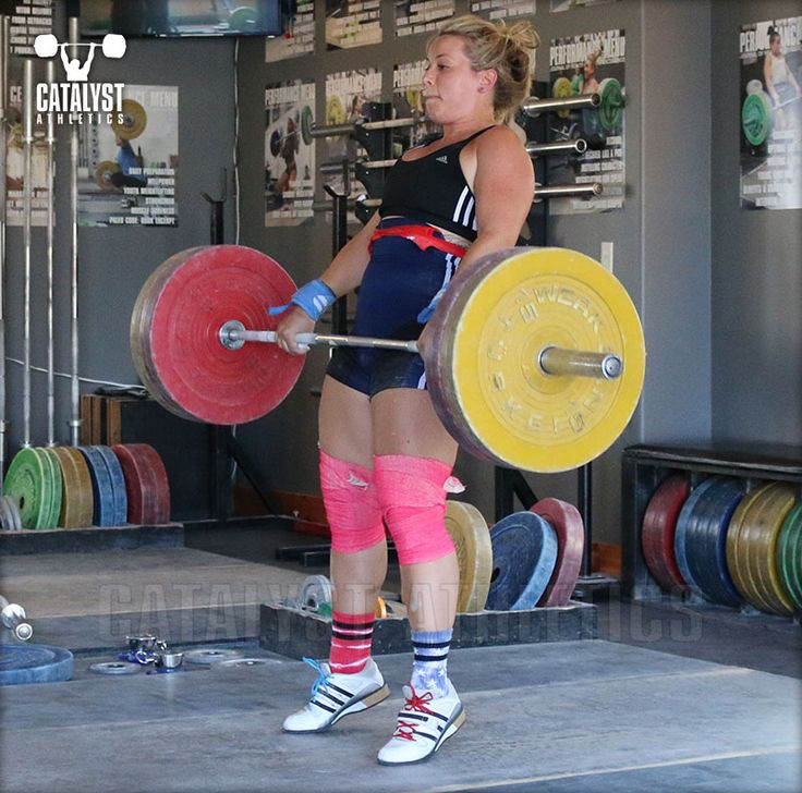 Some advice and example training for the final week leading into a weightlifting competition