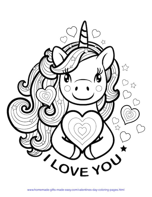 50 Free Printable Valentine's Day Coloring Pages ...