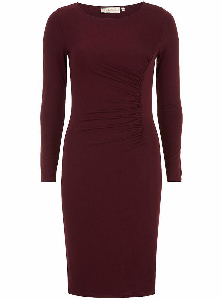 Billie and Blossom plum ruched dress - Dorothy Perkins Europe