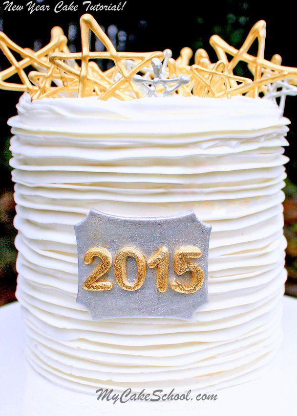 New Year's Cake Tutorial by MyCakeSchool.com
