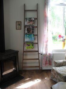 Oude houten ladder: nieuw gebruik. #oude ladder