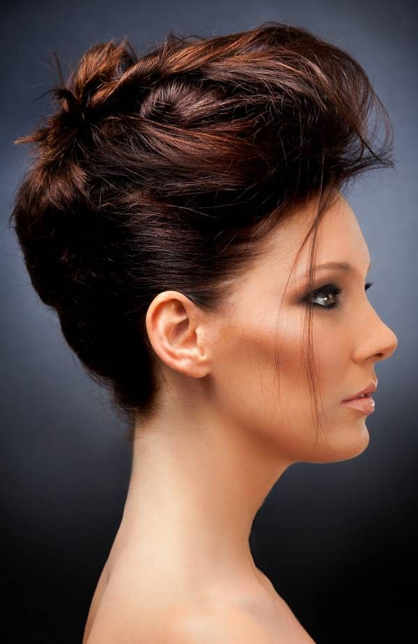 French Twist Hairstyle 2014 2015 For Night Prom Party