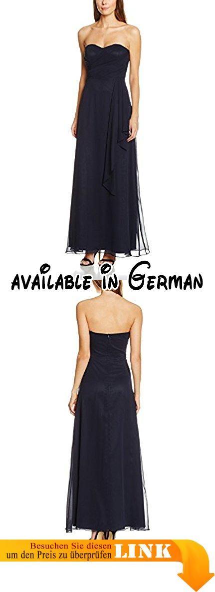 Vera Mont VM Damen Kleid 0031/4825 Blau (Night Sky 8541), 32. Weich fließendes Material. Corsagenkleid lang mit Raffungen in A-Linie #Apparel #DRESS