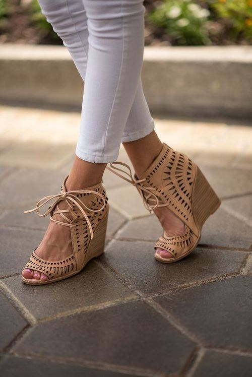 Image result for sperry wedge sandal outfit