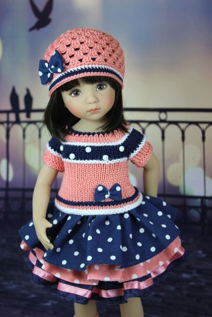 """Наряд """"Горошек"""" Куклы Дианы Эффнер. / Одежда для кукол / Шопик. Продать купить куклу / Бэйбики. Куклы фото. Одежда для кукол"""