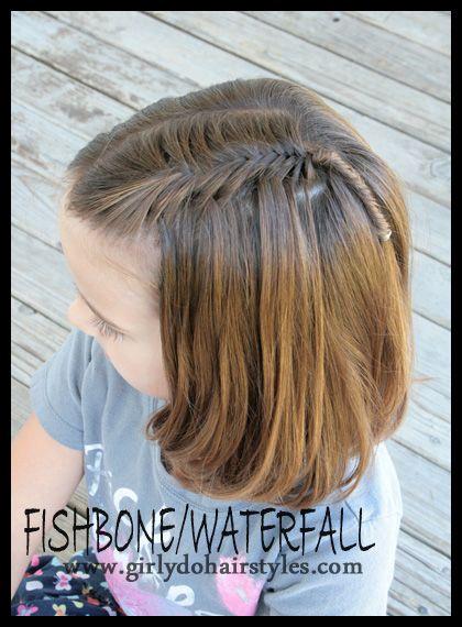 Hairstyles for Long Hair: Flowers Girls Hair, Hair Ideas, Waterf Braids, Waterf Fishbone, Waterfalls Fishbone, Girls Hairstyles, Hair Style, Fishtail Braids, Fishbone Braids