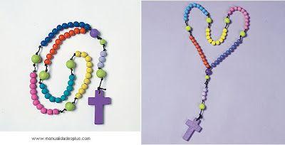 En el comienzo de la catequesis en la Iglesia Cristiana, se enseña a rezar el rosario, para muchos es una confusion aprenderlo, por ello se idea un rosario para comenzar a aprender a rezarlo. Con cuentas de colores e identificando para que sirven se puede enseñar màs facilmente.