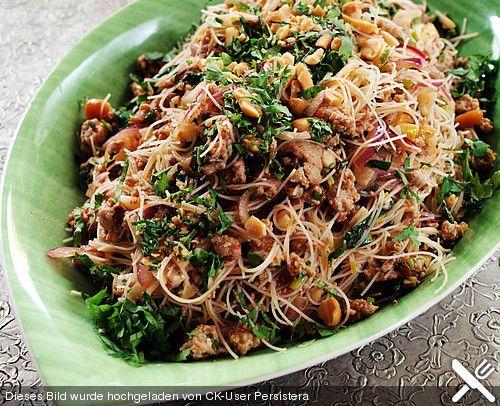 Thai - Glasnudelsalat - Yam Woon Sen, ein sehr schönes Rezept aus der Kategorie Fleisch & Wurst. Bewertungen: 91. Durchschnitt: Ø 4,5.