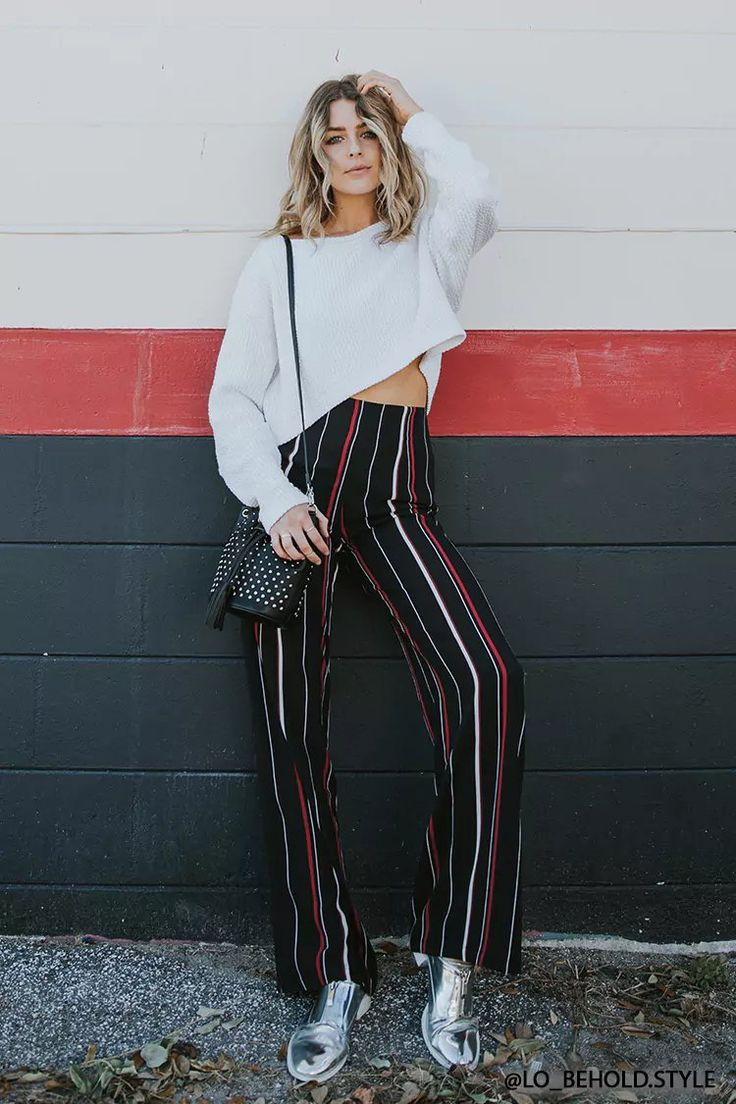 Product Name:Stripe Palazzo Pants, Category:CLEARANCE_ZERO, Price:27.9