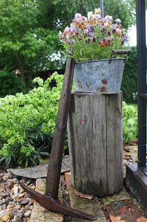 Stilében i trädgårdsmiljö.