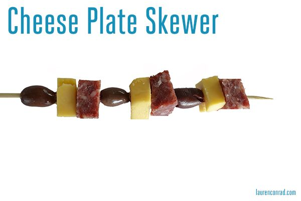 cheese plate skewer {such an easy snack}