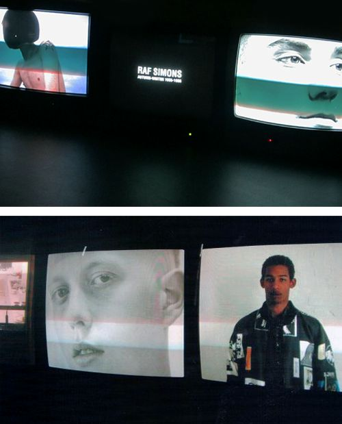 """spring1999: """" """" """"repeat (1995-2005)"""" by raf simons video-installation at fondazione pitti discovery foundation, florence """" the video-installation """"repeat"""" by raf simons shows an imaginary world through a series of silent videos. these screens..."""