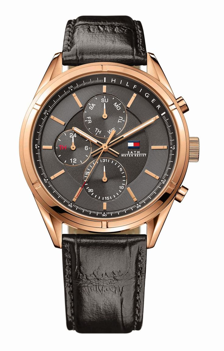 ROSEGOLD MENS WATCH HEADLINES TOMMY HILFIGER WATCHES NEW