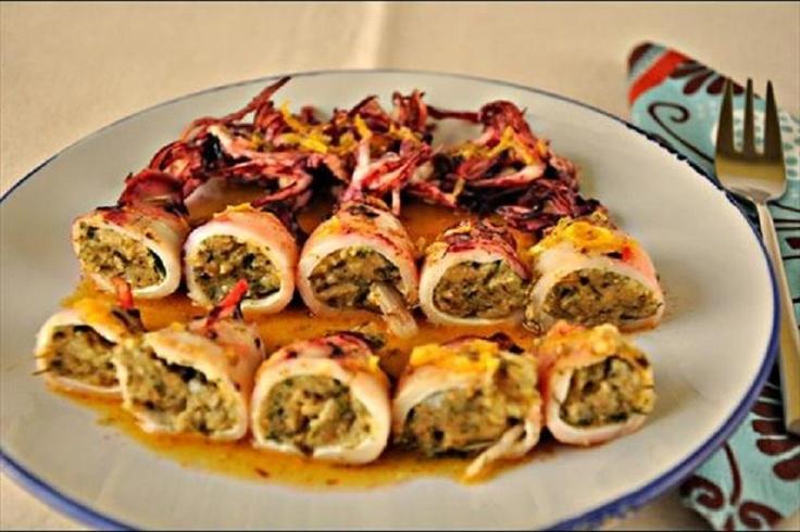 kalamaria gemista: Seafood