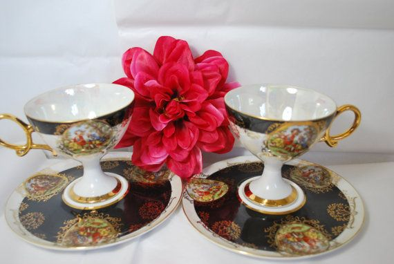 Hey, I found this really awesome Etsy listing at https://www.etsy.com/listing/225851850/vintage-victorian-tea-cups-and-saucers
